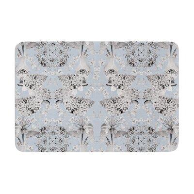 DLKG Design Versailles Memory Foam Bath Rug Color: Blue