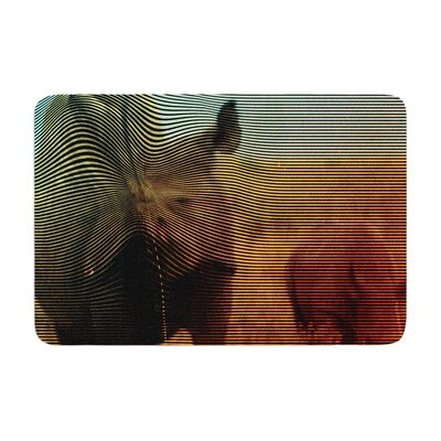 Danny Ivan Abstract Rhino Memory Foam Bath Rug