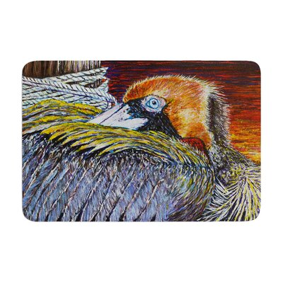 David Joyner Pelican Bird Memory Foam Bath Rug