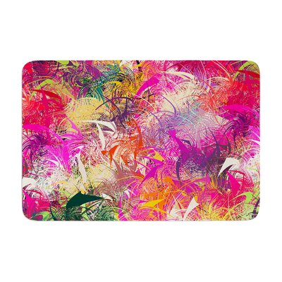 Danny Ivan Splash Abstract Memory Foam Bath Rug