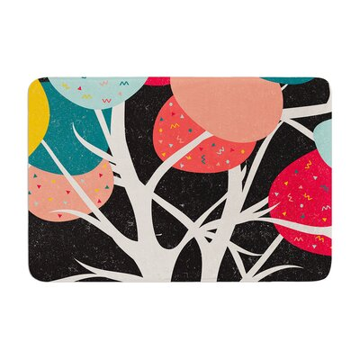 Danny Ivan Lovely Tree Branches Memory Foam Bath Rug