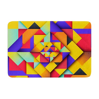 Danny Ivan Shapes II Geometric Memory Foam Bath Rug