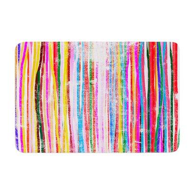 Frederic Levy Hadida Fancy Stripes Memory Foam Bath Rug Color: Pastel