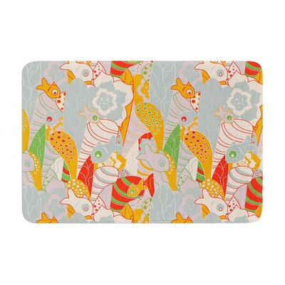 Akwaflorell Fishes Here, Fishes There II Memory Foam Bath Rug