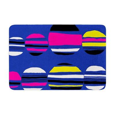 Emine Ortega Retro Circles Cobalt Memory Foam Bath Rug Color: Cobalt