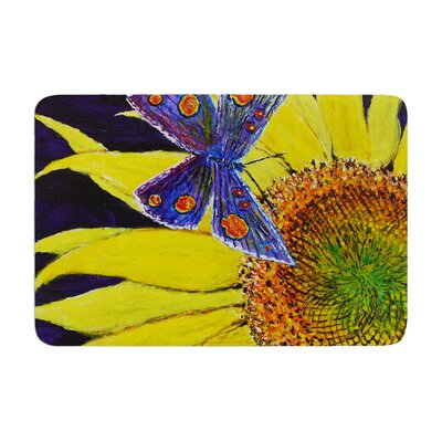 David Joyner Butterfly Memory Foam Bath Rug