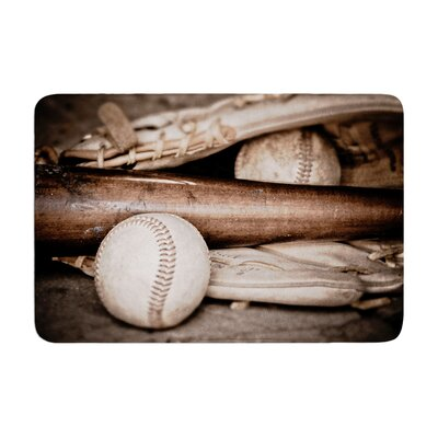 Debbra Obertanec Play Ball Baseball Memory Foam Bath Rug