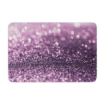 Debbra Obertanec Lavender Sparkle Glitter Memory Foam Bath Rug