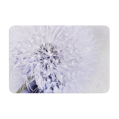 Debbra Obertanec Lavender Wish Flower Memory Foam Bath Rug