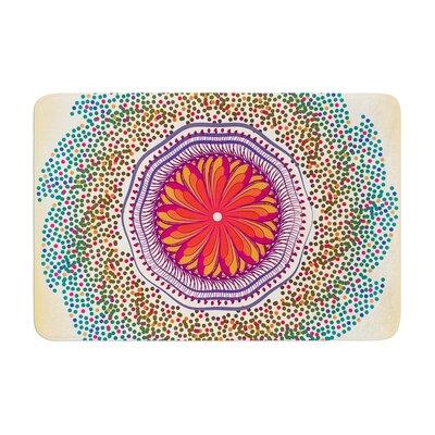 Famenxt Confetti Dots Mandala Abstract Memory Foam� Bath Rug