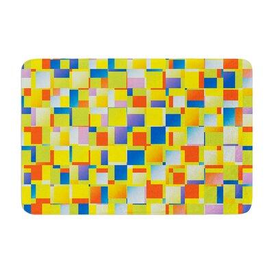 Dawid Roc Multi Color Blocking Geometric Memory Foam Bath Rug