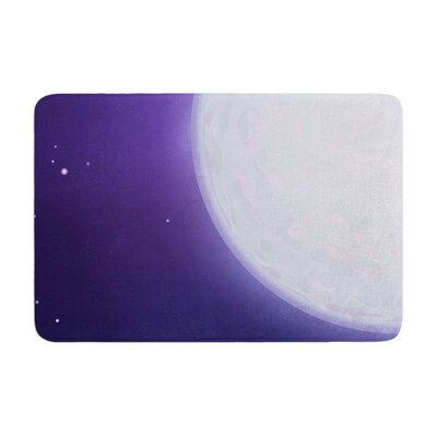 Fotios Pavlopoulos Full Moon Night Sky Memory Foam Bath Rug