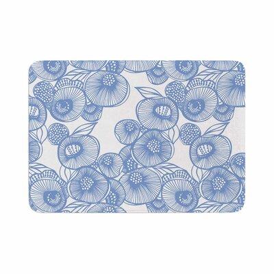 Gill Eggleston Fenella Floral Memory Foam Bath Rug Size: 0.5 H x 24 W x 36 D