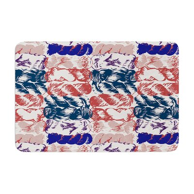 Fernanda Sternieri Nice Knot in Rose Memory Foam Bath Rug Color: Blue/Red