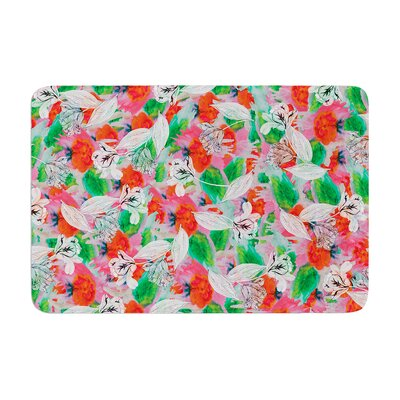 Akwaflorell Flying Tulips Memory Foam Bath Rug