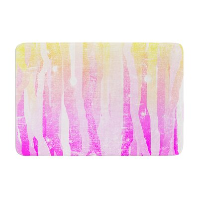 Frederic Levy Hadida Jungle Stripes Painting Memory Foam Bath Rug Color: Pink
