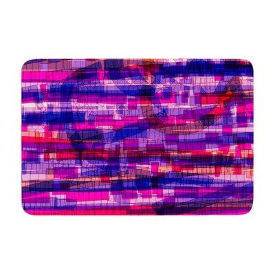 Frederic Levy Hadida Squares Traffic Memory Foam Bath Rug Color: Pink