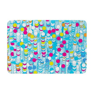 Frederic Levy Hadida Color Hiving Abstract Memory Foam Bath Rug