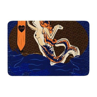Famenxt Mermaid Memory Foam Bath Rug