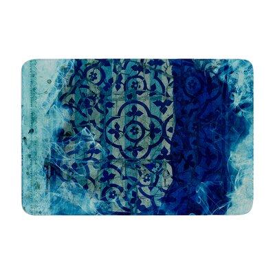 Frederic Levy Hadida Mosaic in Cyan Memory Foam Bath Rug