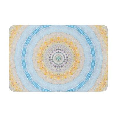 Iris Lehnhardt Summer Mandala Circle Memory Foam Bath Rug