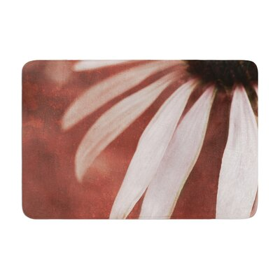Iris Lehnhardt Copper and Pale Flower Memory Foam Bath Rug