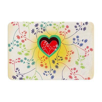 Famenxt Romantic Heart Memory Foam Bath Rug