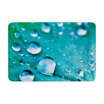 Iris Lehnhardt Water Droplets Memory Foam Bath Rug Color: Aqua