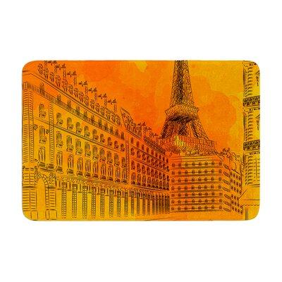 Fotios Pavlopoulos Parisian Sunsets City Memory Foam Bath Rug