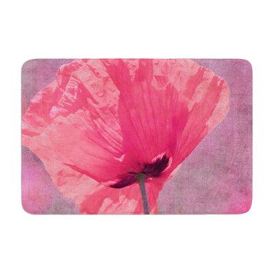 Iris Lehnhardt Poppy Flower Memory Foam Bath Rug
