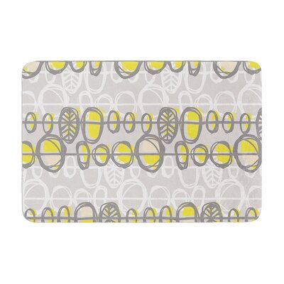 Gill Eggleston Benin Memory Foam Bath Rug Color: Yellow/Gray, Size: 24W x 36L