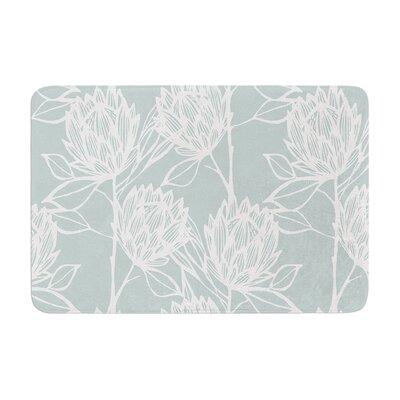 Gill Eggleston Protea Jade Flowers Memory Foam Bath Rug Color: Jade