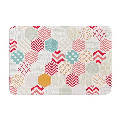 Heidi Jennings Geo Geometric Memory Foam Bath Rug