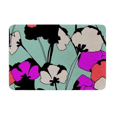 Gabriela Fuente Vintage Flowers Memory Foam Bath Rug