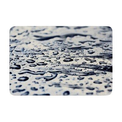 ingrid Beddoes Ice Raindrops Memory Foam Bath Rug