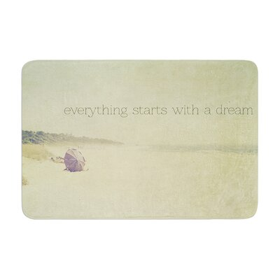 Ingrid Beddoes Everything Starts with a Dream Beach Quote Memory Foam Bath Rug