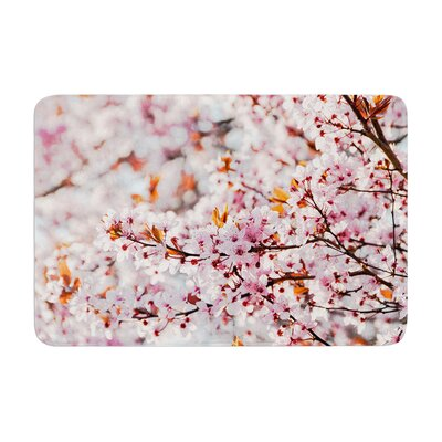 Iris Lehnhardt Flowering Plum Tree Blossoms Memory Foam Bath Rug