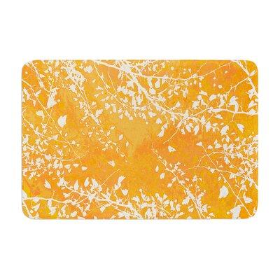 Iris Lehnhardt Twigs Silhouette Memory Foam Bath Rug Color: Orange