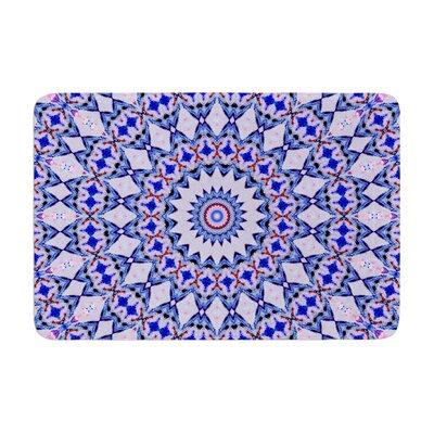 Iris Lehnhardt Kaleidoscope Circle Memory Foam Bath Rug Color: Blue