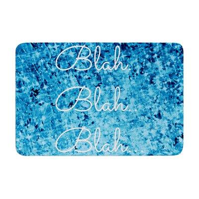 Ebi Emporium Blah Blah Blah Glitter Memory Foam Bath Rug