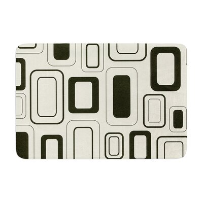 Heidi Jennings Cubes for Days Neutral Memory Foam Bath Rug