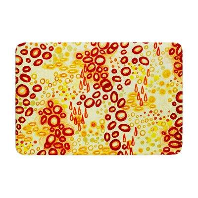 Ebi Emporium Circular Persuasian Memory Foam Bath Rug Color: Yellow