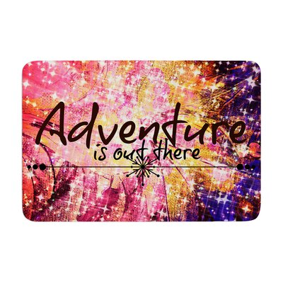 Ebi Emporium Adventure Is out There Typography Memory Foam Bath Rug