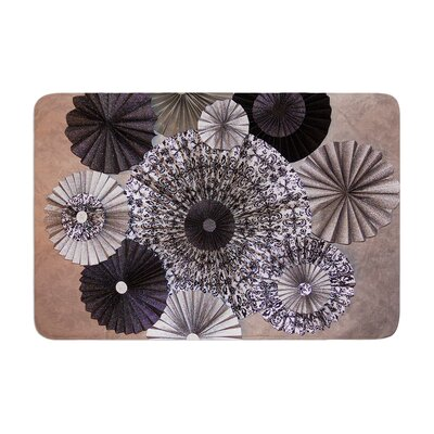 Heidi Jennings Shadows Circles Memory Foam Bath Rug