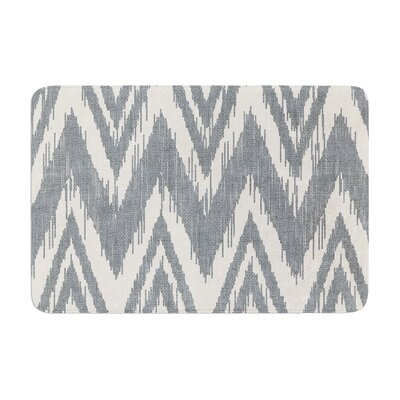 Heidi Jennings Tribal Chevron Memory Foam Bath Rug Color: Gray