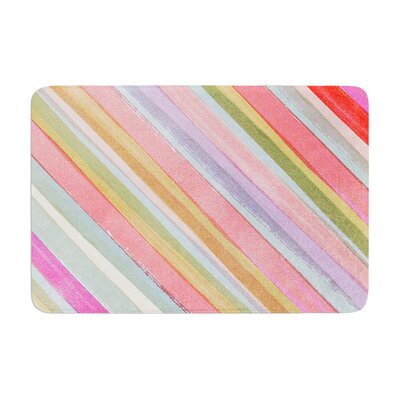 Heidi Jennings Stripes Memory Foam Bath Rug