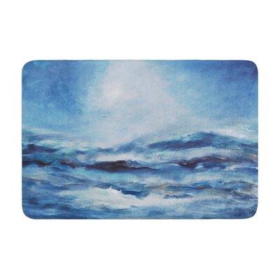 Iris Lehnhardt Rough Sea OceanMemory Foam Bath Rug