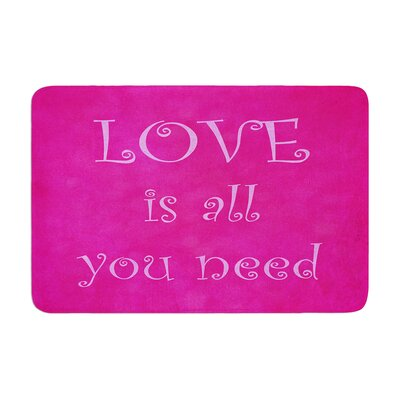 Iris Lehnhardt Love is all you need QuoteMemory Foam Bath Rug