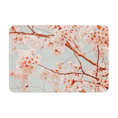 Iris Lehnhardt Blossoms All Over Flowers Memory Foam Bath Rug