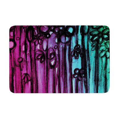Ebi Emporium Winter Garden Ombre Memory Foam Bath Rug Color: Purple